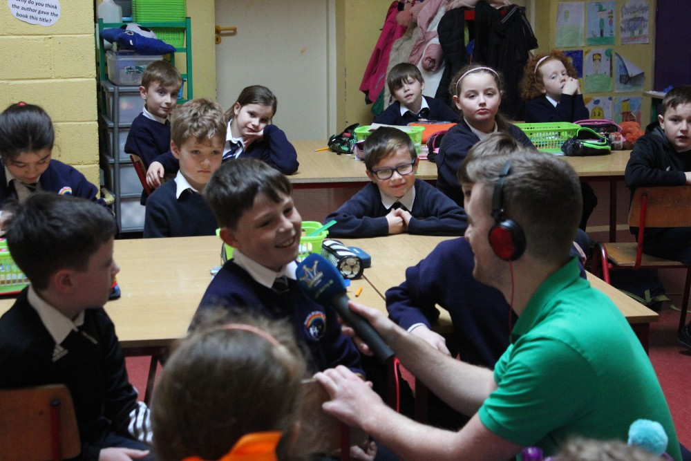 BRENDAN FULLER of RADIO KERRY broadcasts his chat with Third Class…..