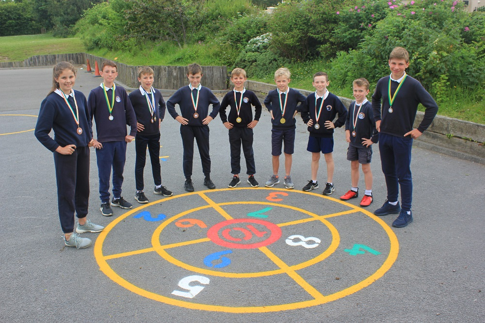 Champs at Kerry Schools Athletics Finals.