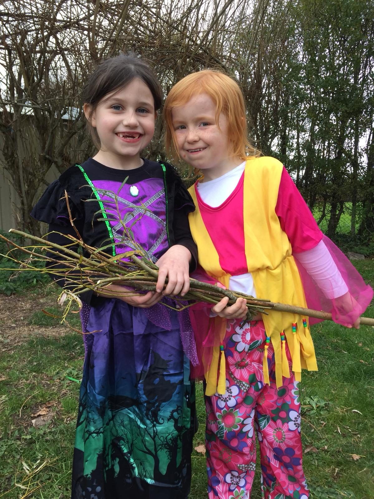 Willow Broomsticks from our Garden.