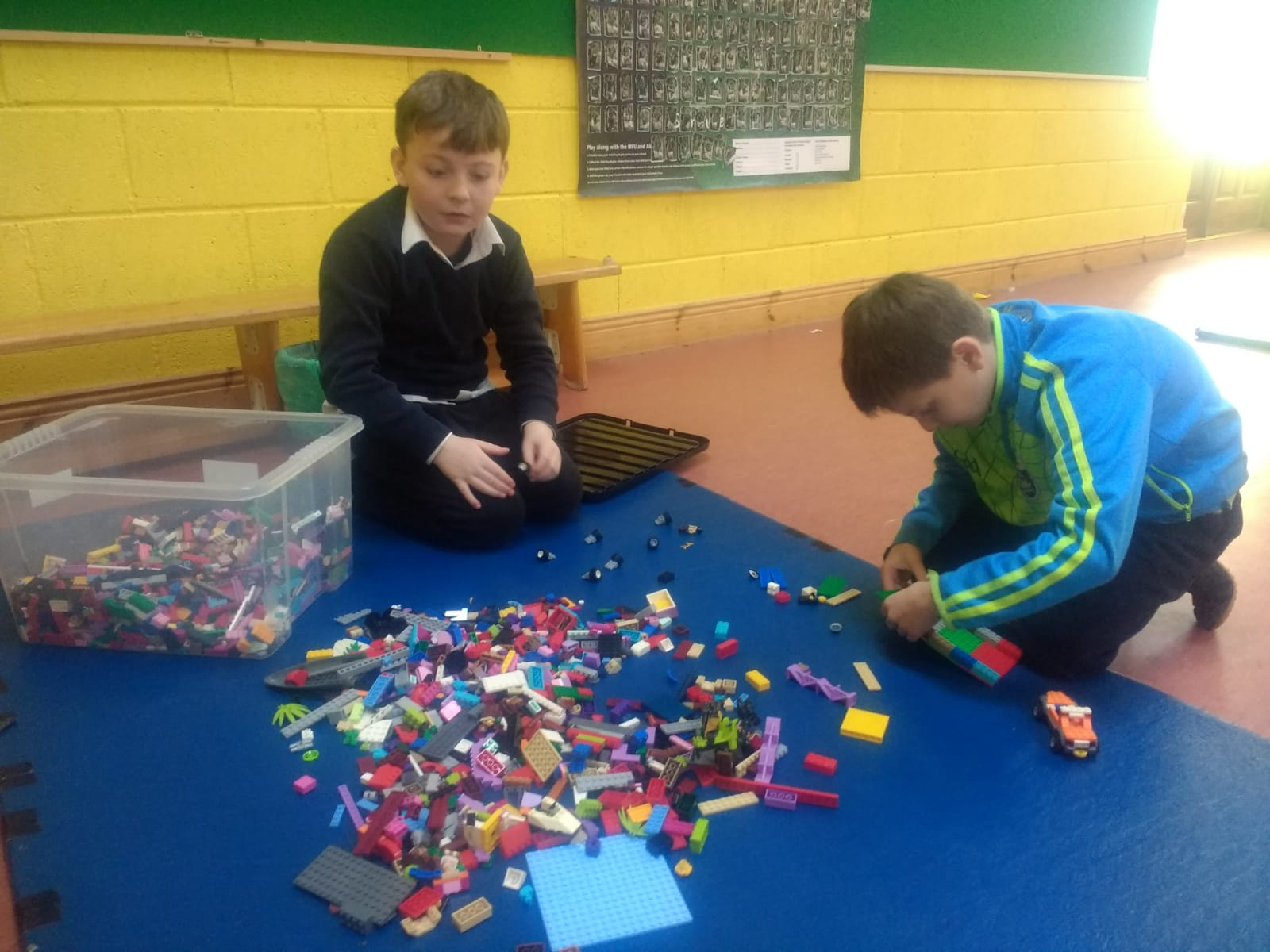 Sixth Class love the halla and so too do the Lego Club!