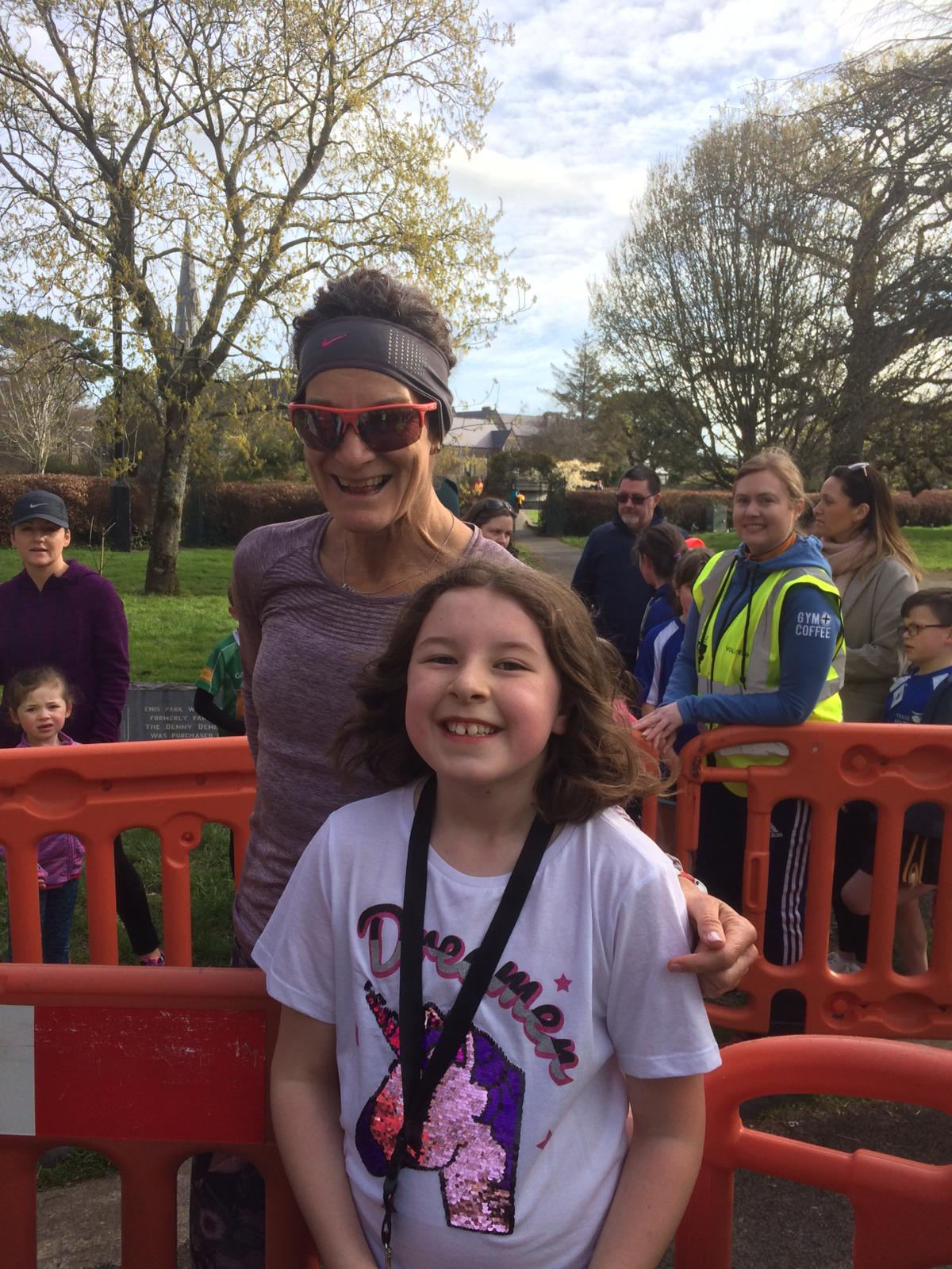Sonia O' Sullivan at Junior Tralee Park Run.